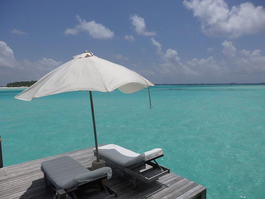 Gili Lankanfushi(ウオターヴィラからの眺め)