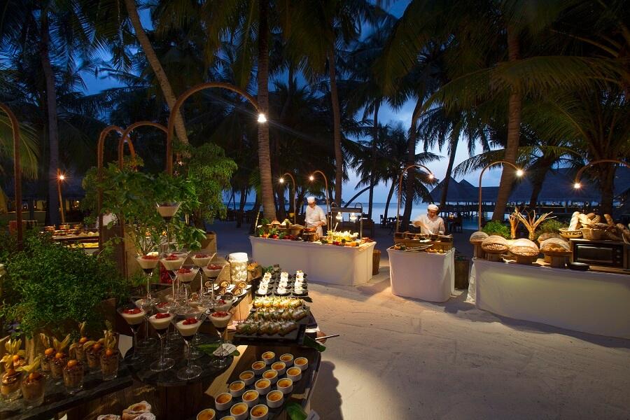 Gili Lankanfushi(メインレストランでのディナー)