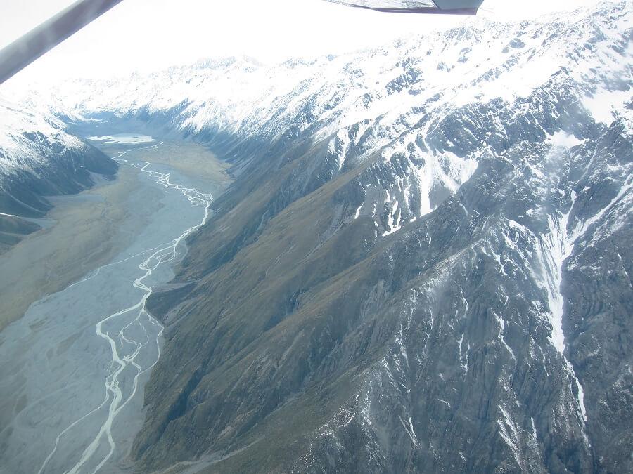 マウントクック(タスマン氷河へのフライト)