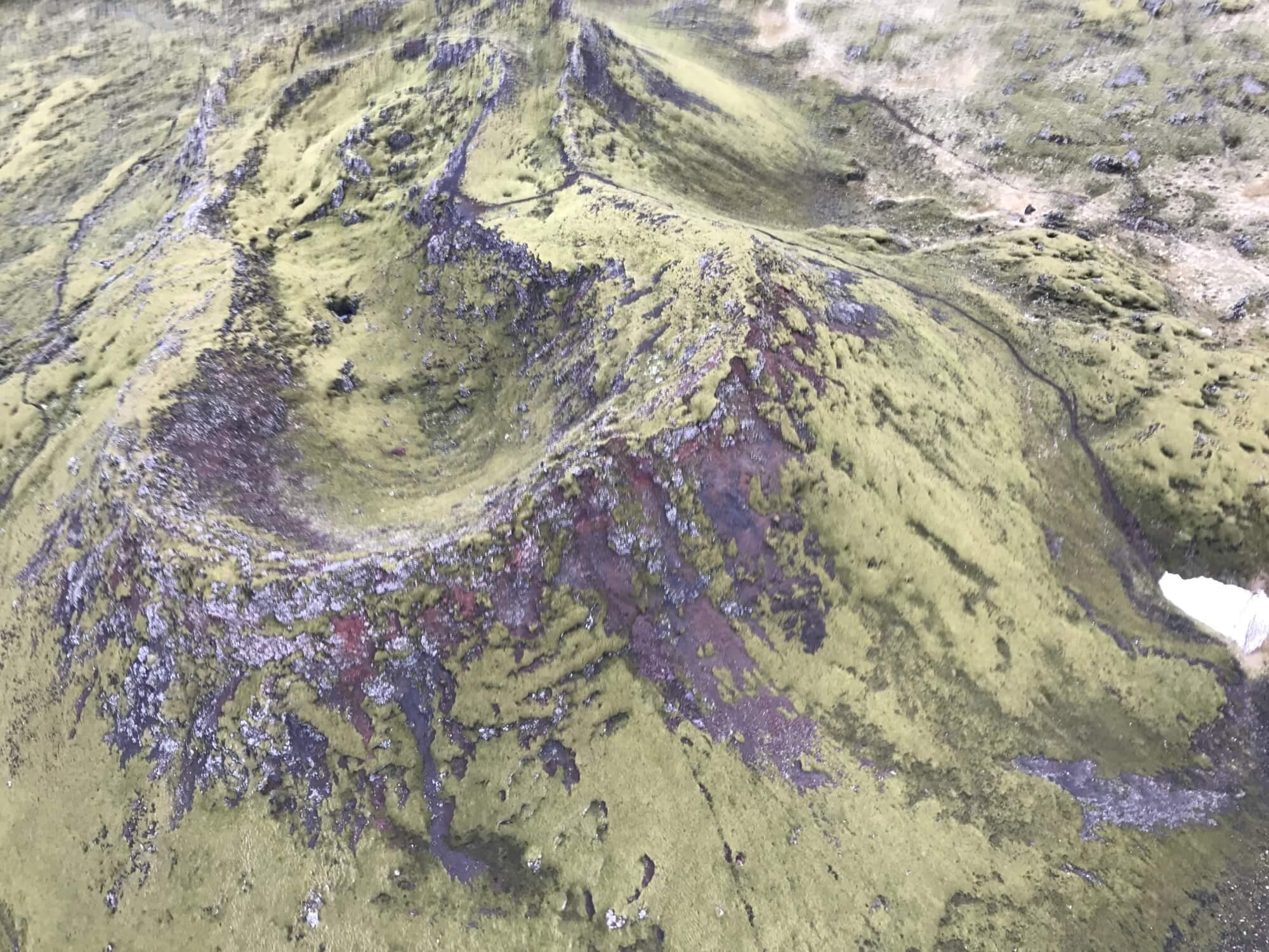 アイスランド レポート ヘリからの眺