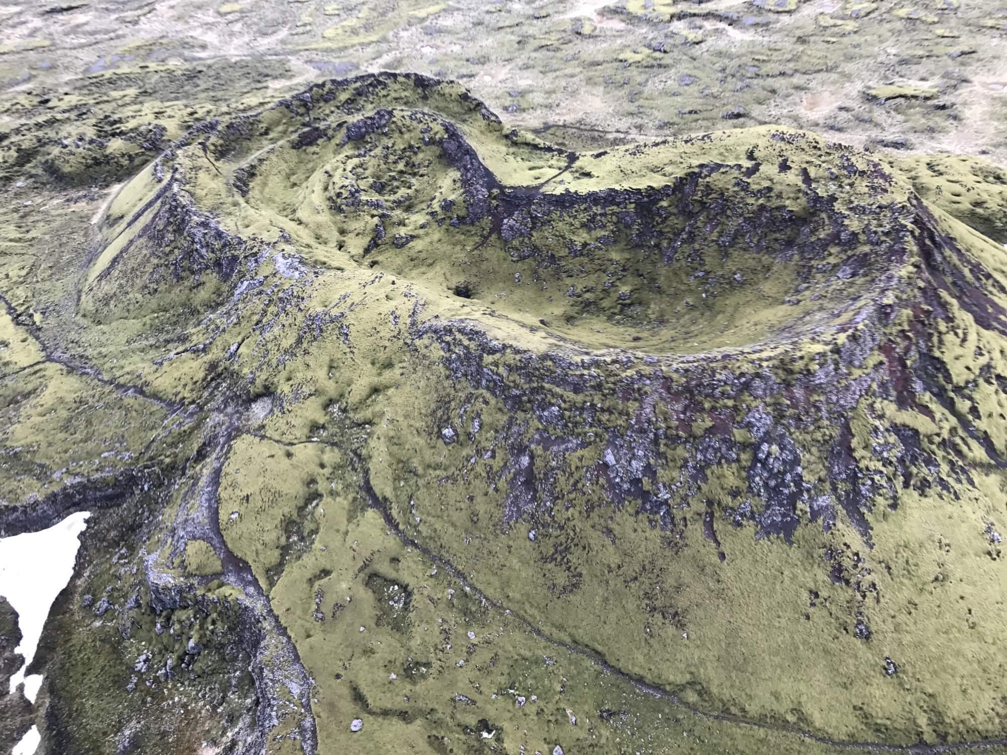 アイスランド レポート ヘリからの眺め