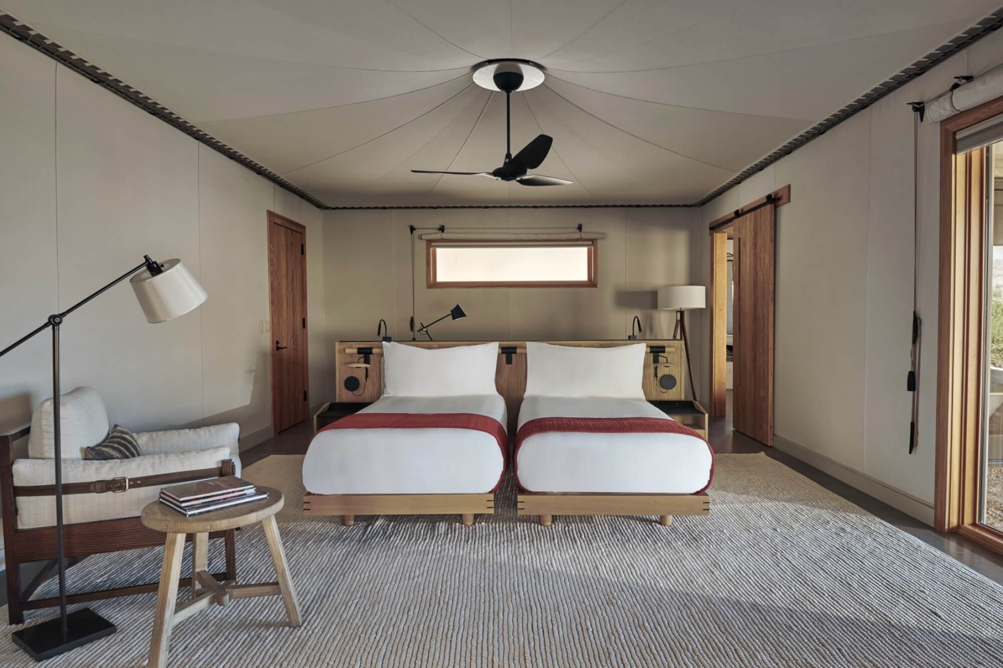 アマンギリ Amangiri, USA - Camp Sarika Tent 10 Twin Bedroom