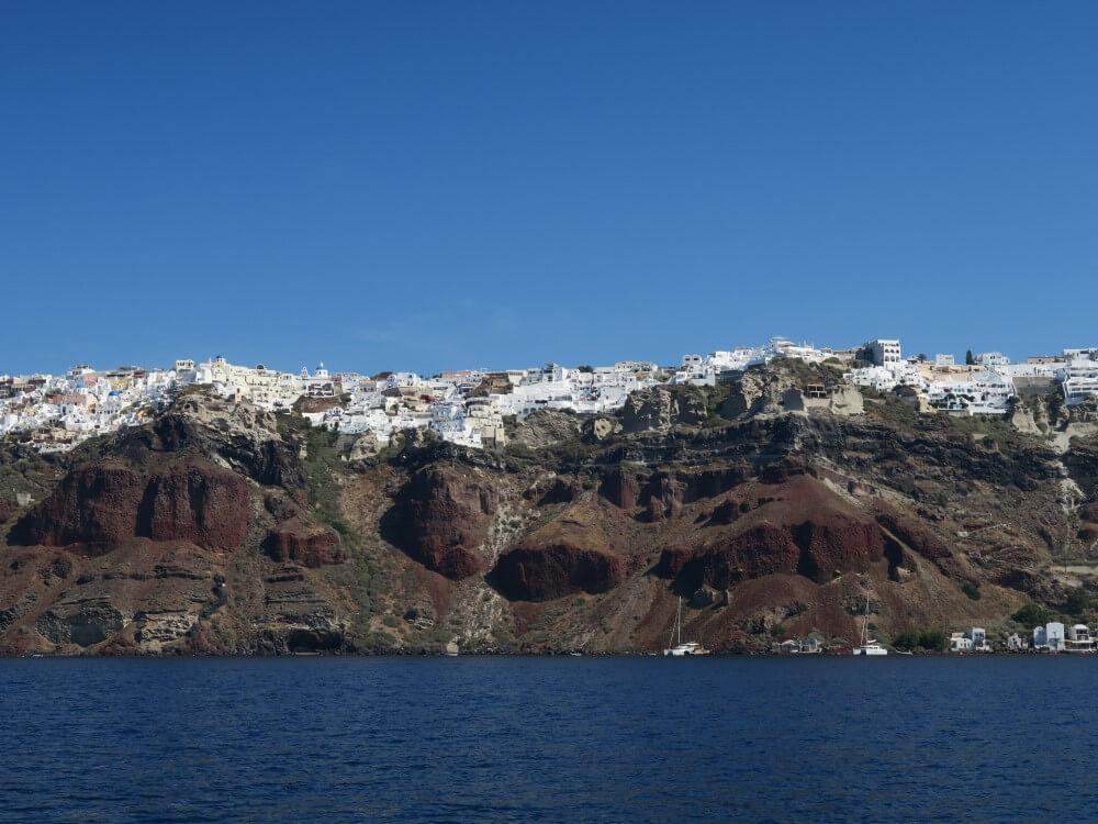 サントリーニ島 ボートからの眺め