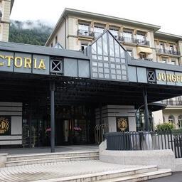 ヴィクトリア ユングフラウ グランド ホテル 入口