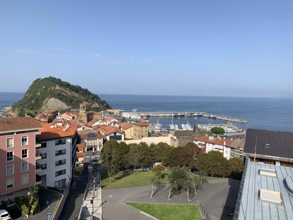 バスク 旅行記 高台から見た町並み