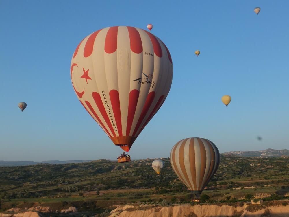 トルコ 気球体験