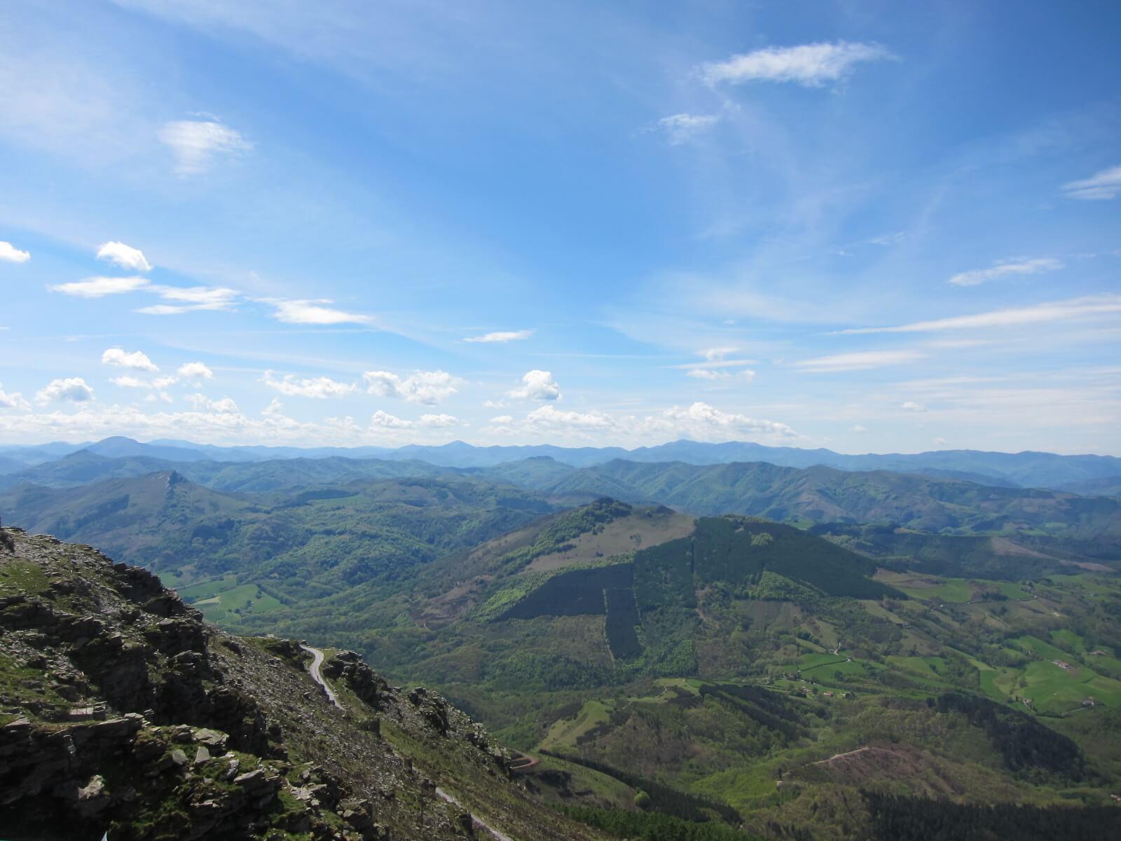 フレンチバスク ラリューヌ登山列車 山頂からの眺め