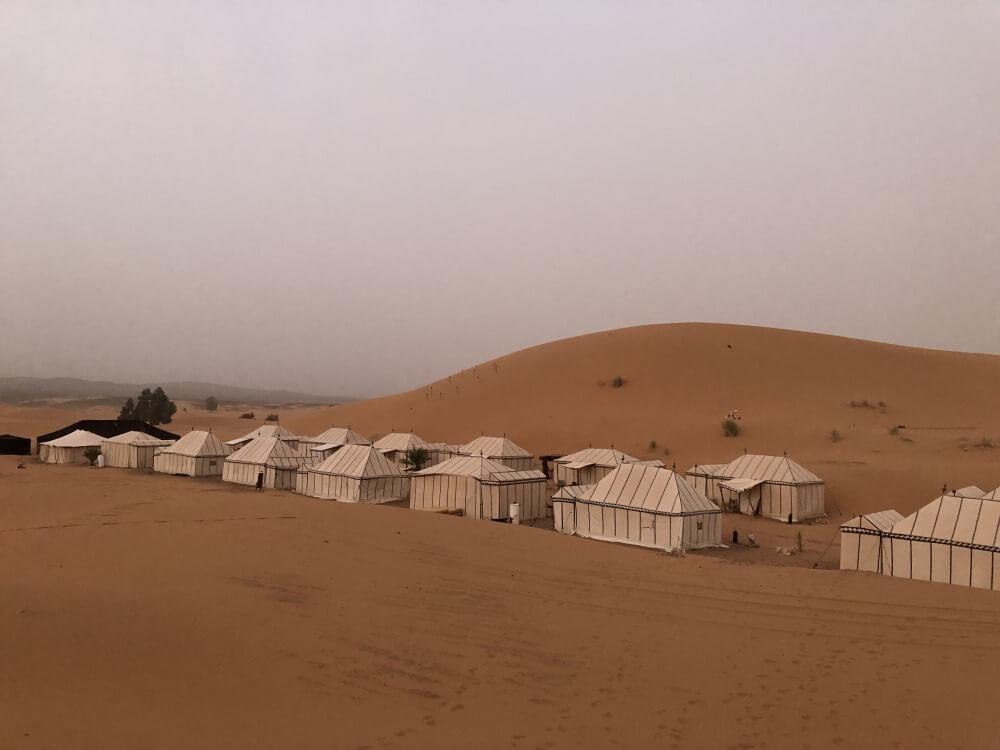 サハラ砂漠 テント泊