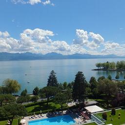 ボーリバージュパレス レマン湖の眺め