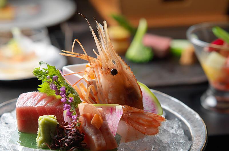 あかん鶴雅別荘 鄙の座 夕食例