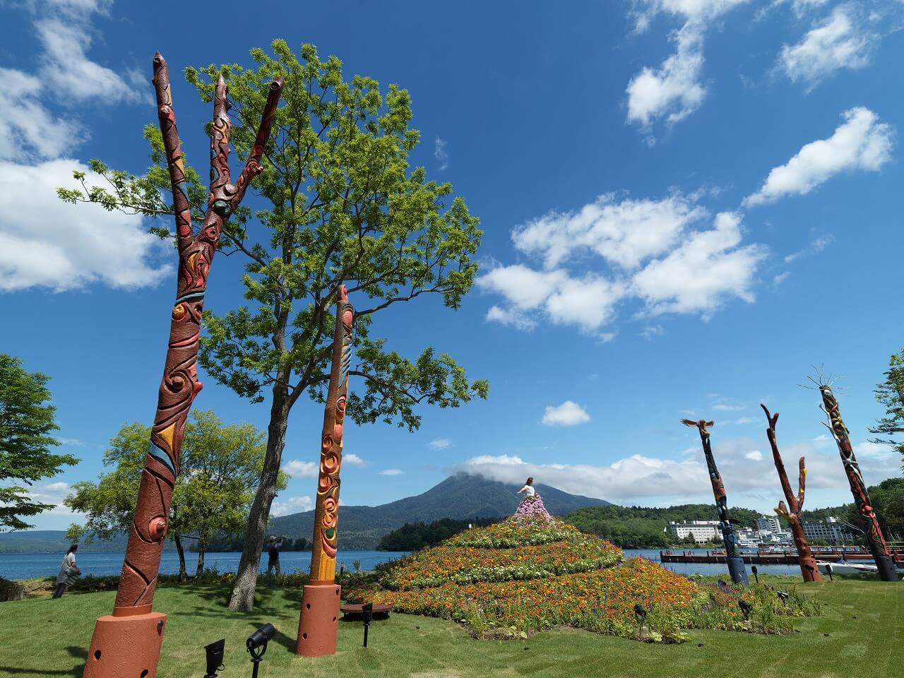 あかん遊久の里 鶴雅 イオマプの庭
