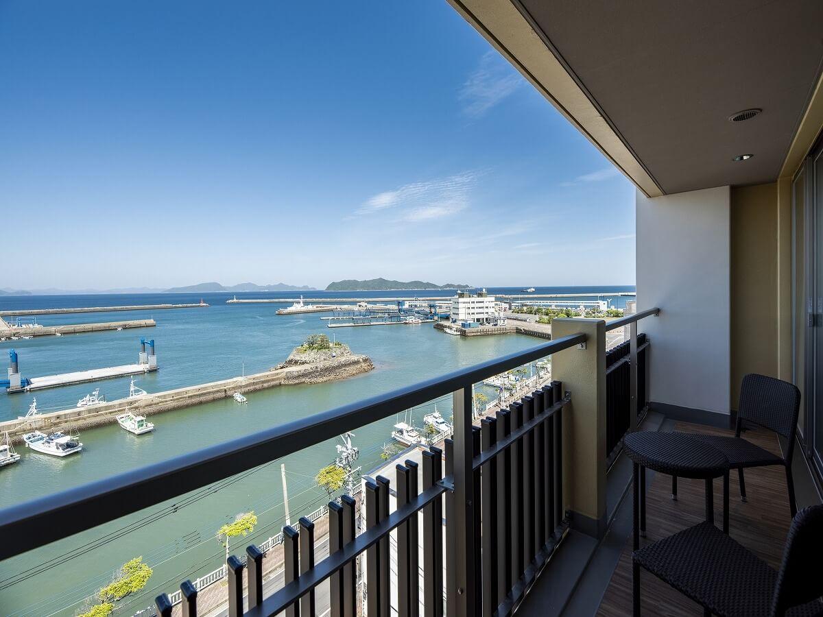 下五島 GOTO TSUBAKI HOTEL ハーバーツイン ベランダからの眺め