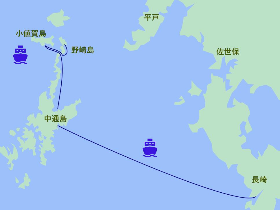 上五島・小値賀島・野崎島 地図