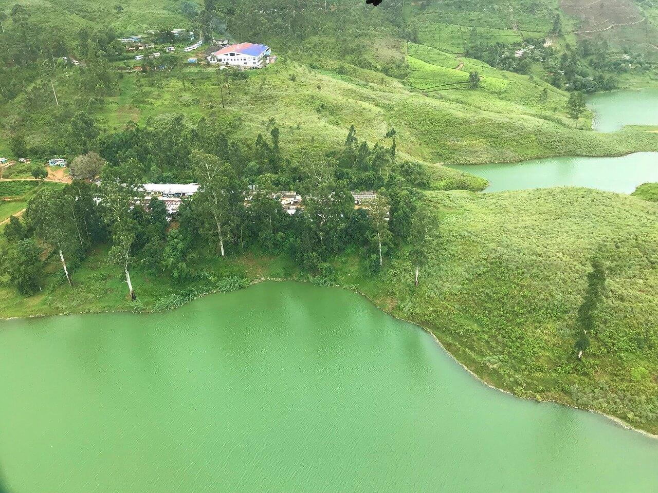 「セイロン紅茶」の国・スリランカ 湖畔に広がる茶畑