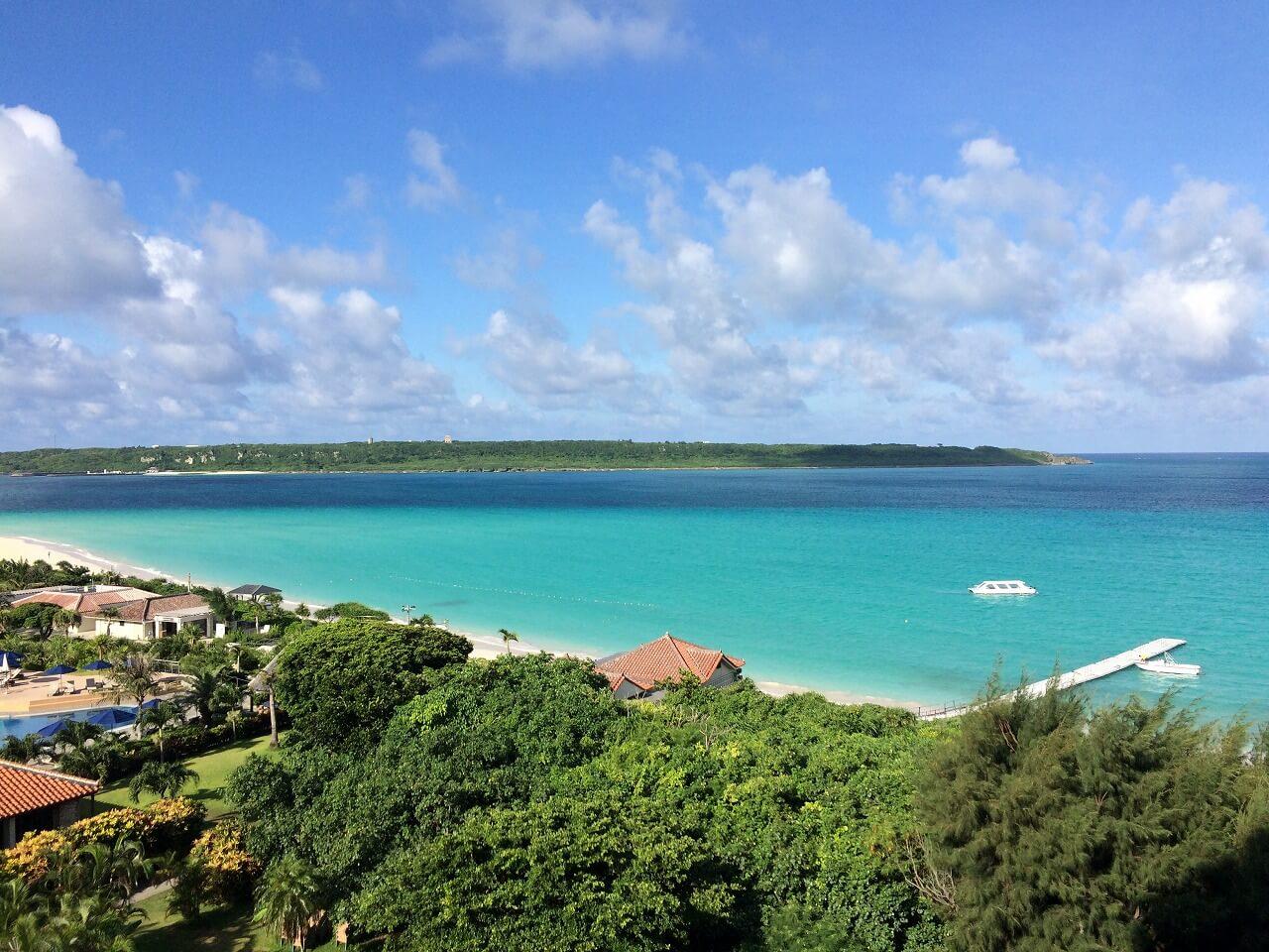 宮古島 部屋からの眺め与那覇舞浜ビーチ